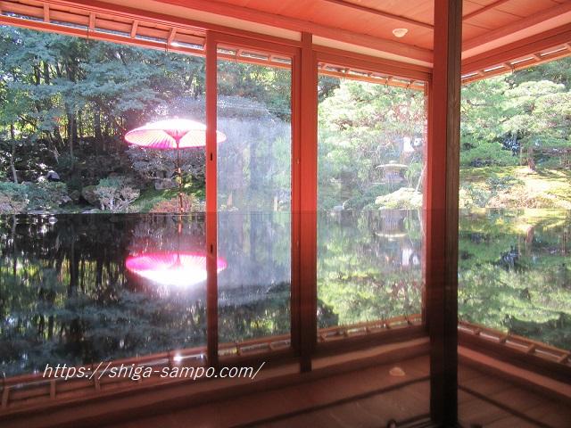 旧竹林院の庭園を撮影