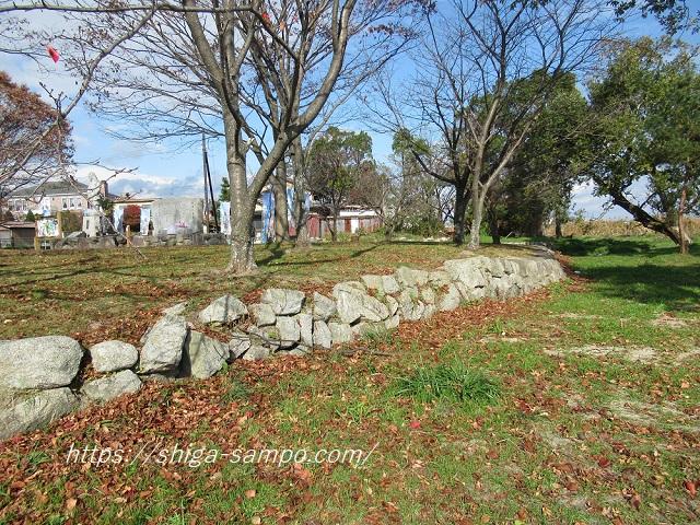 坂本城址公園の石垣