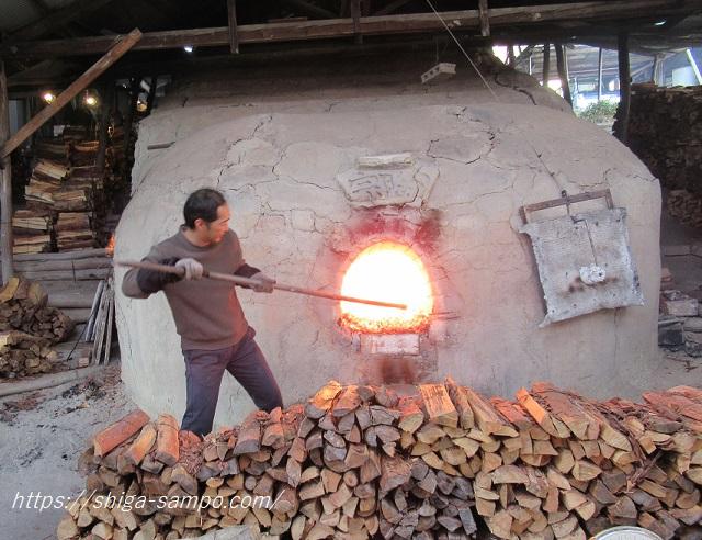 宗陶苑の窯焚き