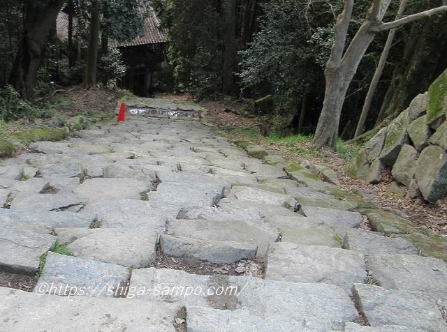 摠見寺から下る石段